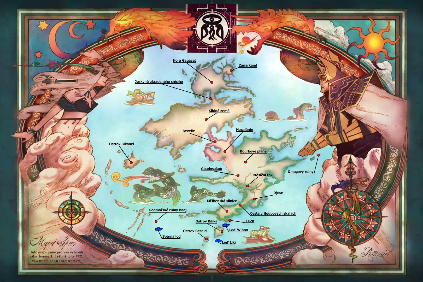 Navod Final Fantasy X Mapa Sveta